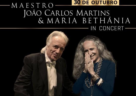 Espaço das Américas recebe João Carlos Martins e Maria Bethânia In Concert – de Beetohoven a Bethânia!